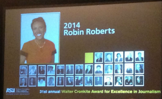 Robin Roberts honored at Cronkite Luncheon (Photo by Brett Nachman)