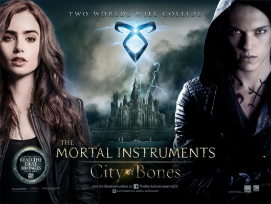The Mortal Instruments City Of Bones movie banner