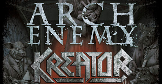 Arch Enemy Kreator North American tour 2014