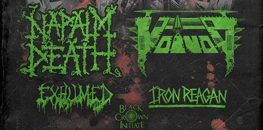 Voivod and Napalm Death tour 2015 banner