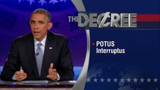 President Obama Gives The Word On The Colbert Report