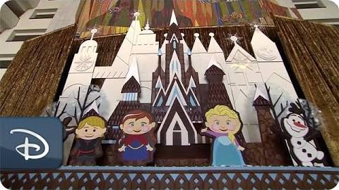 Frozen gingerbread display at the Walt Disney World Resort
