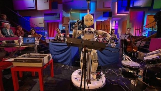 Robot Orchestra Performs Doctor Who Theme Royal Institution Christmas Lectures 2014 BBC Four