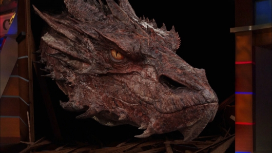 Hobbit dragon Smaug on the Colbert Report