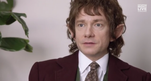 Hobbit star Martin Freeman In The Office: Middle Earth On SNL