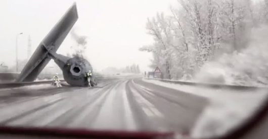 Star Wars TIE Fighter Accident On The Highway