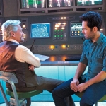 Michael Douglas and Paul Rudd on the set of Marvel Studios' Ant-Man