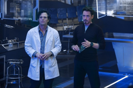 Marvel's Avengers: Age Of Ultron, Mark Ruffalo and Robert Downey Jr.