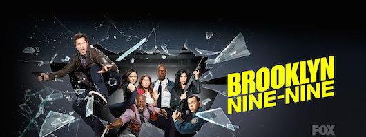 Brooklyn Nine Nine Cast FOX Breaking Glass Logo