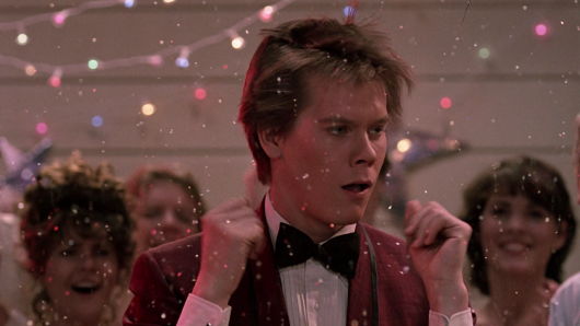 Kevin Bacon Footloose confetti dance