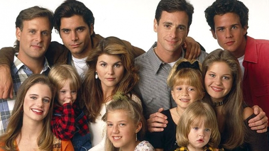 Full House full cast photo with John Stamos