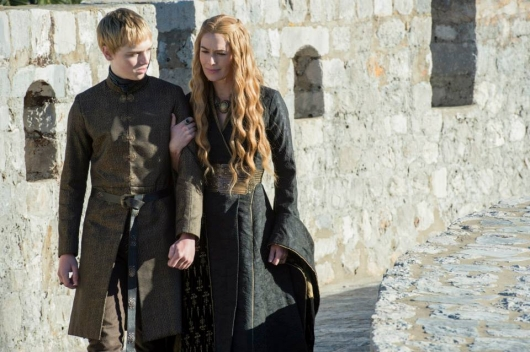 Game Of Thrones Season 5 Dean-Charles Chapman as Tommen Baratheon and Lena Headey as Cersei Lannister
