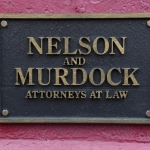 Marvel Daredevil Netflix Nelson and Murdock law office sign