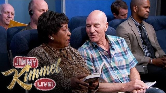 Patrick Stewart Most Annoying Types Of People on a Plane Jimmy Kimmel Live