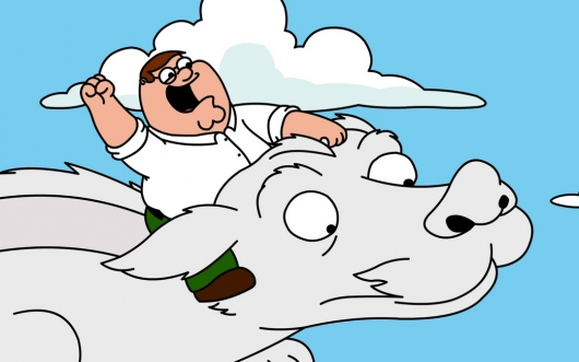Peter Griffin Rides Falkor