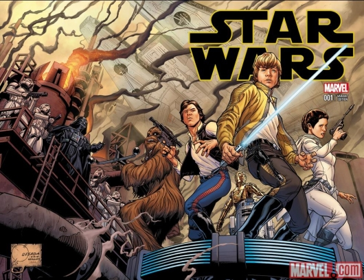 Star Wars #1 (2015) variant cover by Joe Quesada Marvel Comics