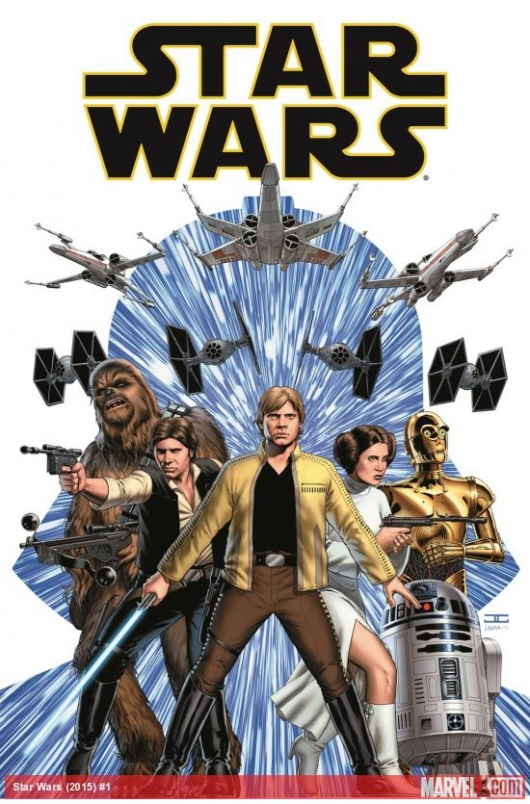 Star Wars #1 cover (2015) Marvel Comics