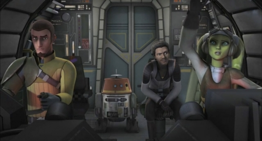 Star Wars Rebels Lando and Ghost crew