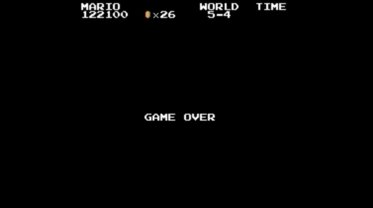 Super Mario Bros. Game Over Screen
