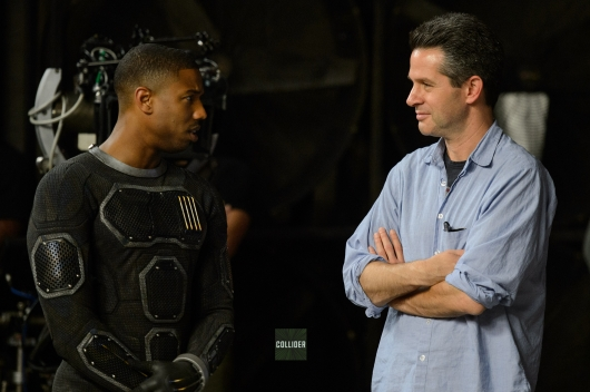The Fantastic Four Michael B Jordan Human Torch with Simon Kinberg