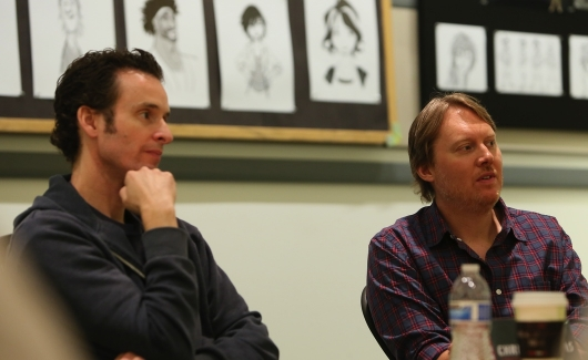 Big Hero 6 directors (L-R) Chris Williams and Don Hall