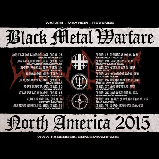 Black Metal Warfare Tour Poster