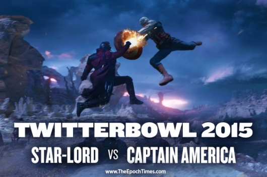 Star-Lord vs. Captain America TwitterBowl 2015