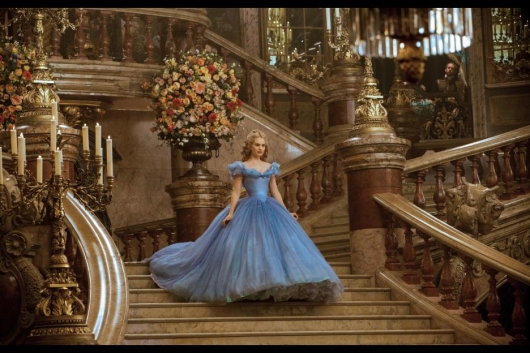 Cinderella live action movie Cinderella (Lily James) at Ball