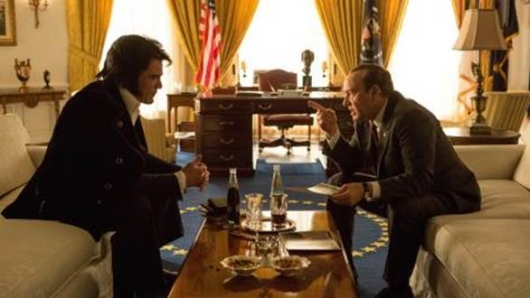 Elvis & Nixon Michael Shannon as Elvis and Kevin Spacey as Nixon first look