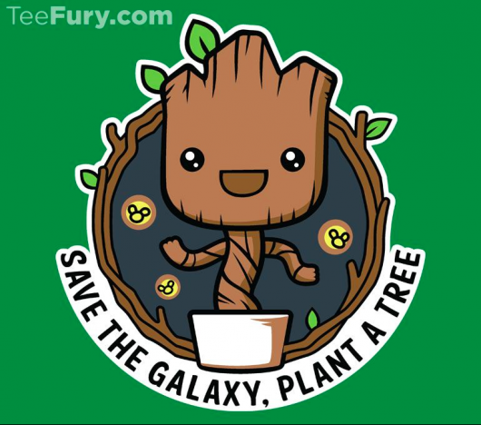 Guardians of the Galaxy Groot Groot Galaxy Forest Conservation Program design