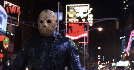 Jason Voorhees in Times Square Friday the 13th