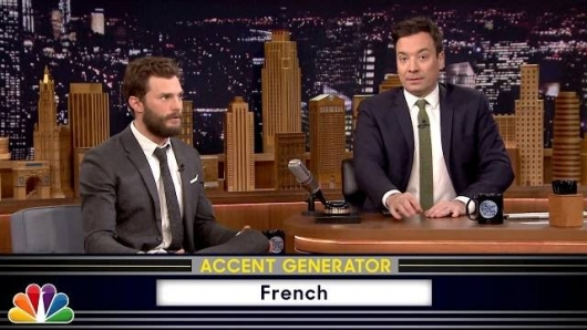 Fifty Shades of Grey star Jamie Dornan and Jimmy Fallon