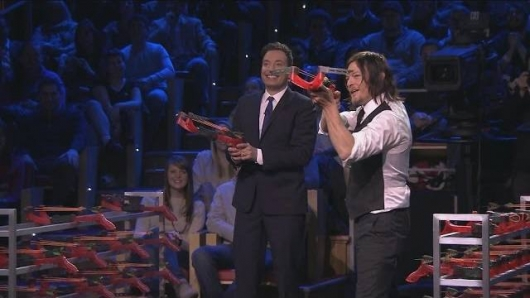 Jimmy Fallon and Norman Reedus The Tonight Show