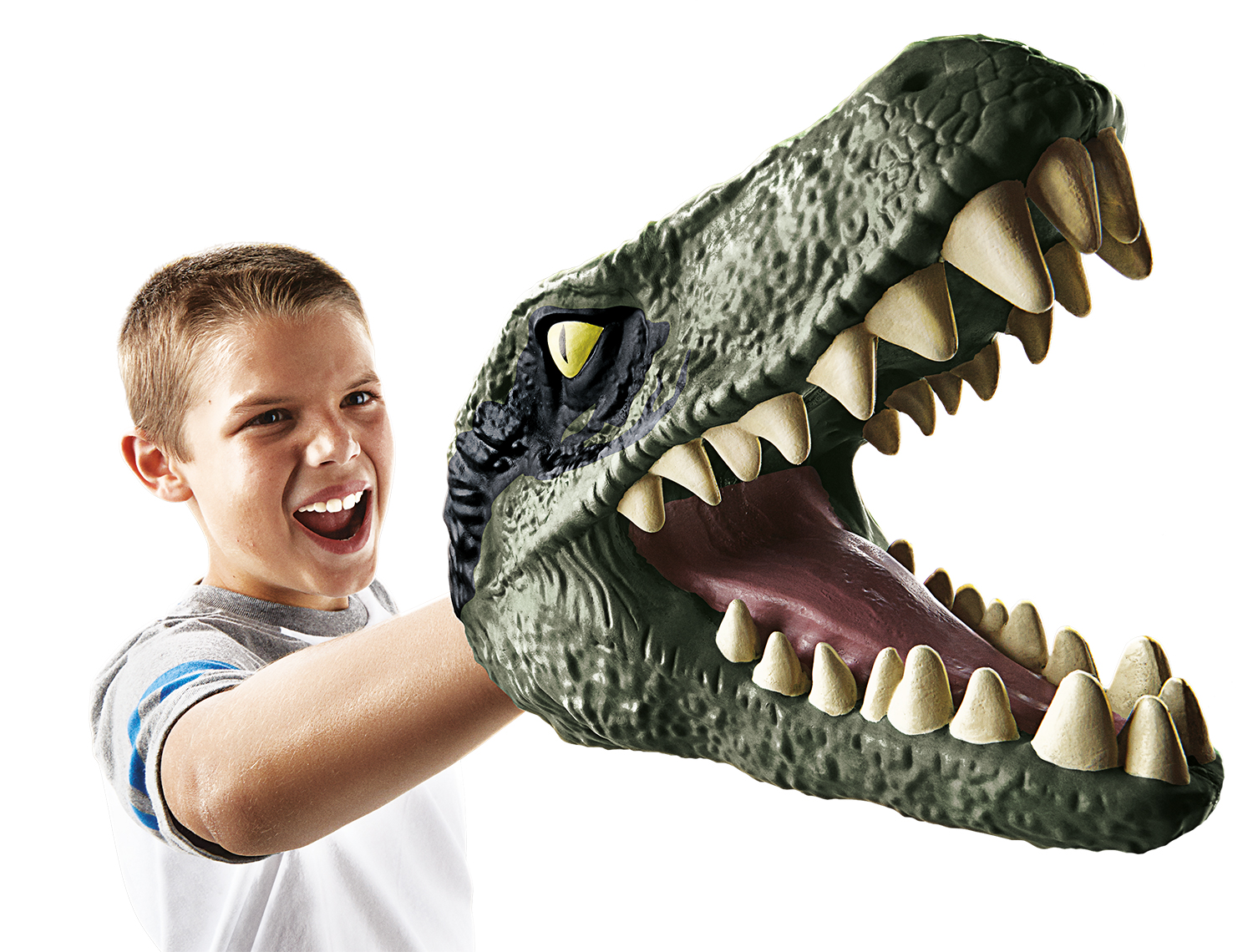 Jurassic World Chomping Head Hands Puppet Velociraptor