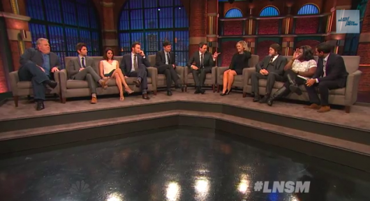 Parks and Recreation cast on Late Night With Seth Meyers