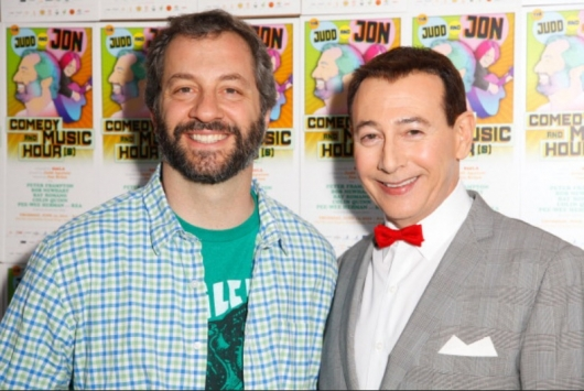 Pee-wee Herman (Paul Reubens) and Judd Apatow