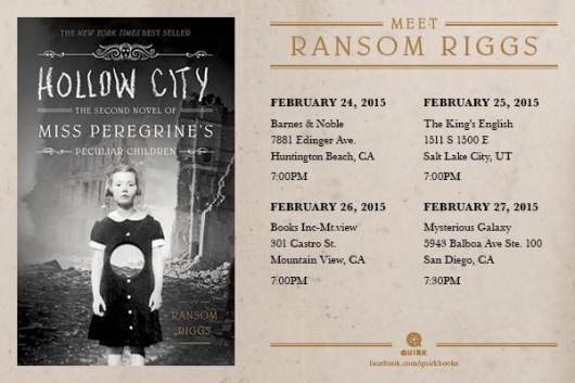 Ransom Riggs February Tour Dates