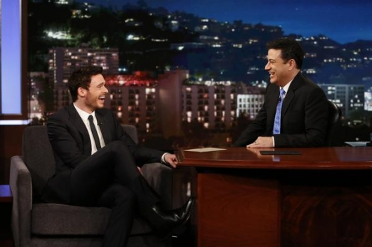 Richard Madden and Jimmy Kimmel