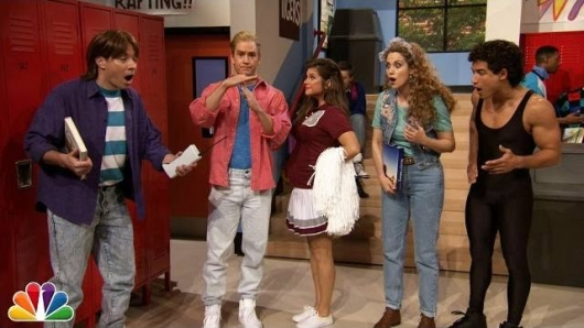 Saved By The Bell Cast Reunites At Bayside With Jimmy Fallon