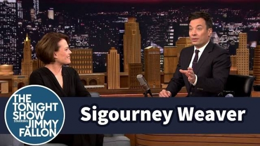 Sigourney Weaver The Tonight Show starring Jimmy Fallon