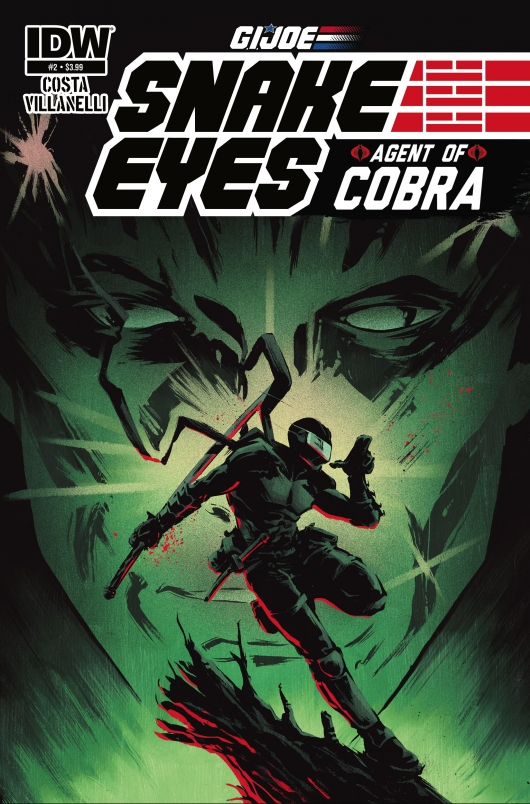 Snake Eyes Agent of Cobra 02 cover Paolo Villanelli