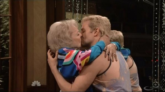 SNL 40 Betty White and Bradley Cooper Kiss In The Californians Saturday Night Live