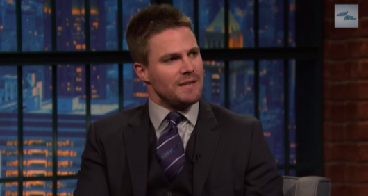 Stephen Amell Late Night with Seth Meyers