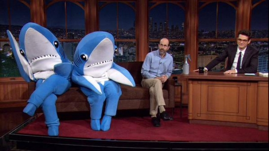 Katy Perry Super Bowl Sharks on the Late Late Show