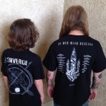 Converge and At The Gates Tour T-shirts Back
