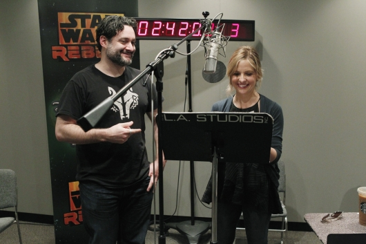 Dave Filoni and Sarah Michelle Gellar