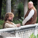 Game Of Thrones Season 5 Tyrion (Peter Dinklage) discusses his future with Varys (Conleth Hill) in Pentos