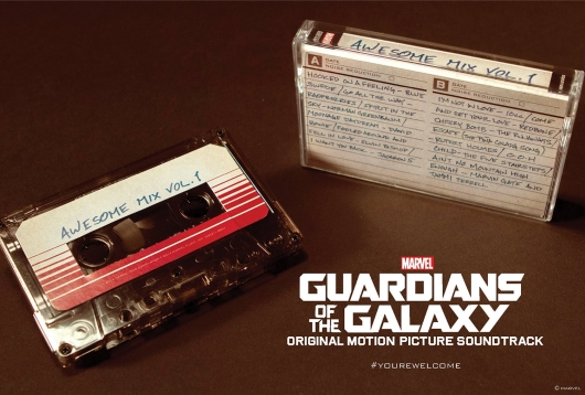 Guardians of the Galaxy Awesome Mix Vol 1 Soundtrack cassette re-release
