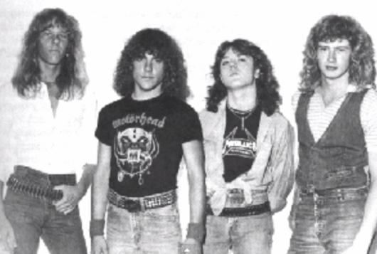 Metallica No Life 'til Leather demo lineup James Hetfield, Ron McGovney, Lars Ulrich, Dave Mustaine
