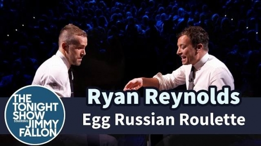 Ryan Reynolds Plays Egg Russian Roulette With Jimmy Fallon